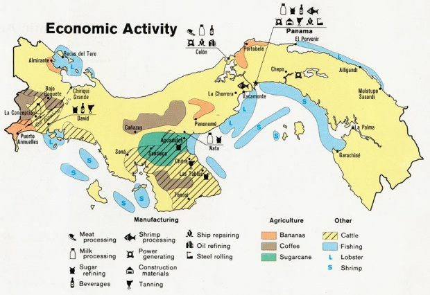 Panama Economic Activity Map