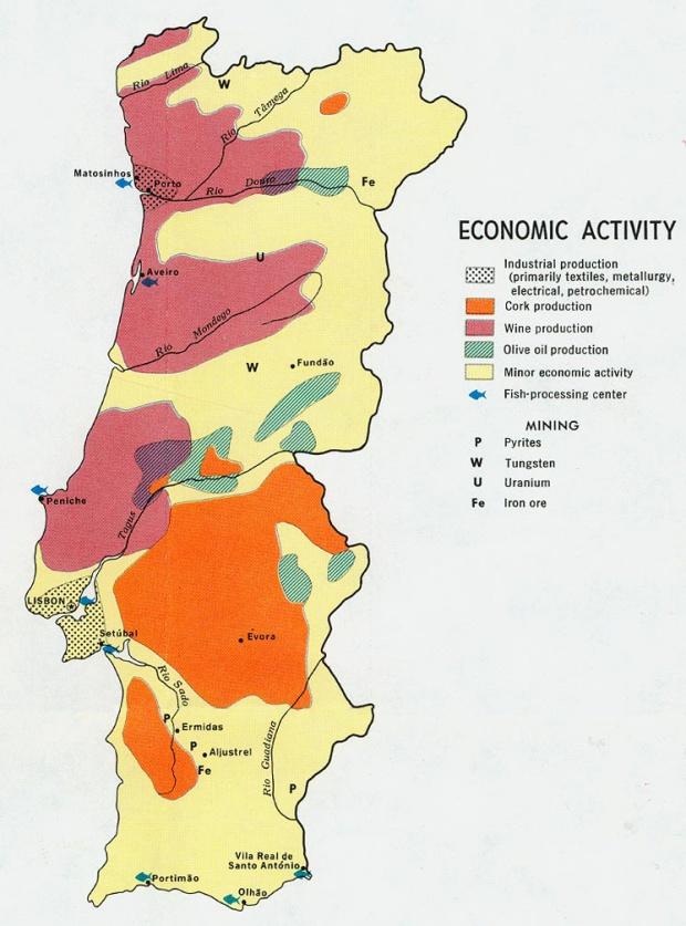 Portugal Economic Activity Map