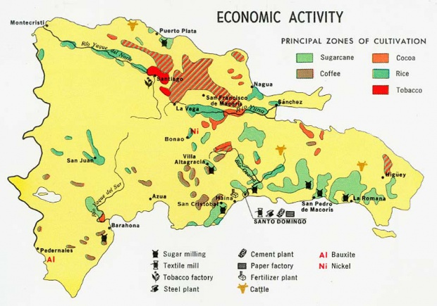 Dominican Republic Economic Activity Map