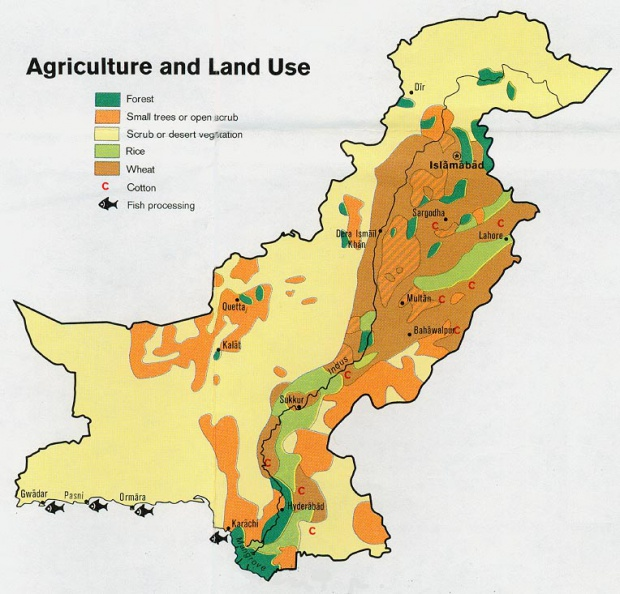 Pakistan Agriculture and Land Use Map