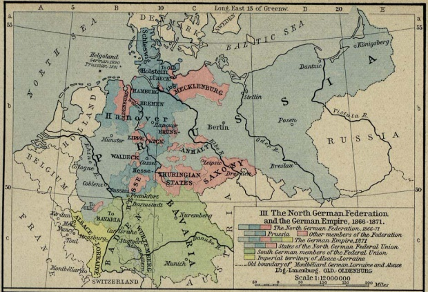 Germany Map 1815  - 1871