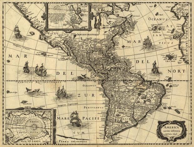 Map of America circa 1640