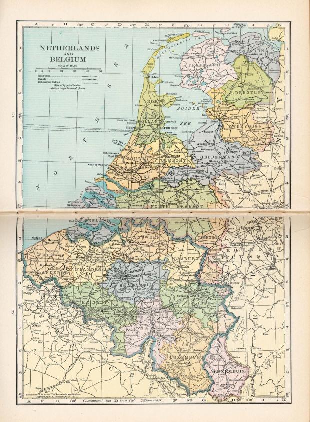 Belgium Map 1921