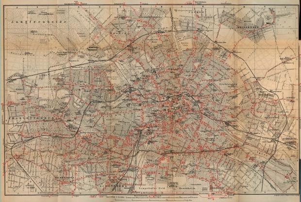 Mapa de Berlín, Alemania 1910