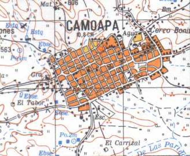 Mapa de Camoapa, Boaco, Nicaragua