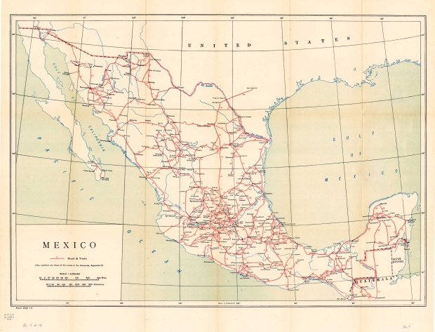 Roads and Tracks Map, Mexico