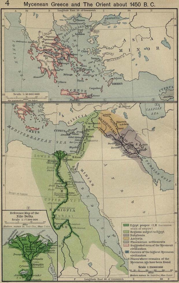 Mapa de Egipto 1450 adC
