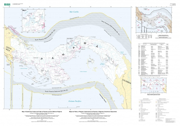 Panama´s Map of Quaternary Faults and Folds