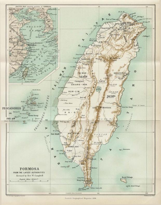 Mapa de Formosa 1896