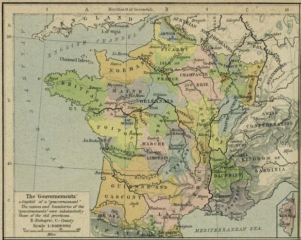 Mapa de Francia 1789