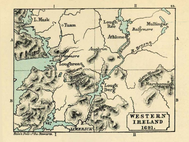 Map of Western Ireland 1691