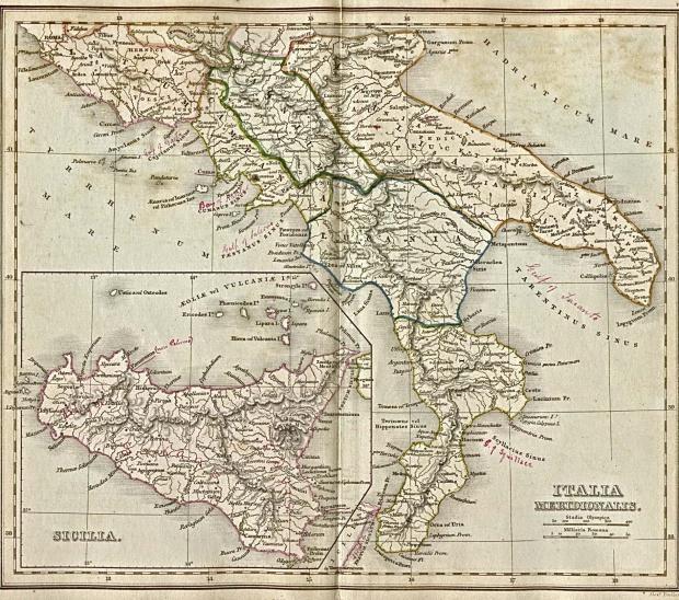 Italia (Ancient Italy) Map