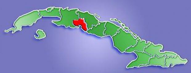 Mapa de Localización Provincia de Cienfuegos, Cuba