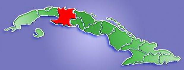 Mapa de Localización Provincia de Matanzas, Cuba