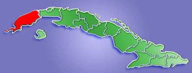 Mapa de Localización Provincia de Pinar del Río, Cuba