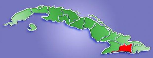Mapa de Localización Provincia de Santiago de Cuba, Cuba