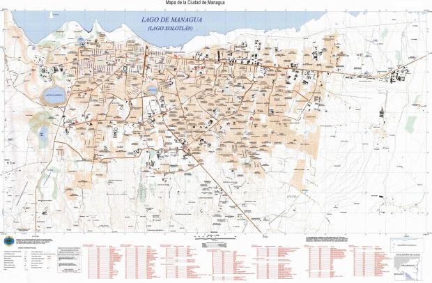 Mapa de Managua a Gran Escala, Nicaragua