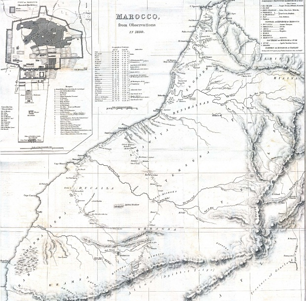 Morocco Map 1830