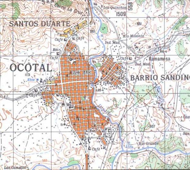 Mapa de Ocotal, Nueva Segovia, Nicaragua