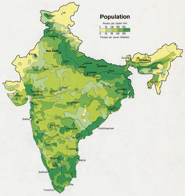 India Population Map