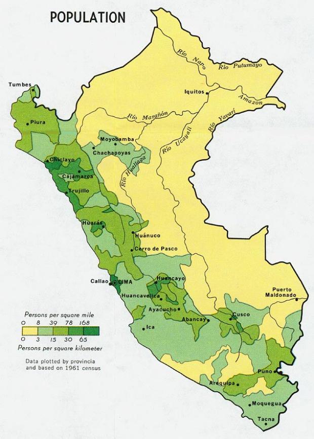 Peru Population Map