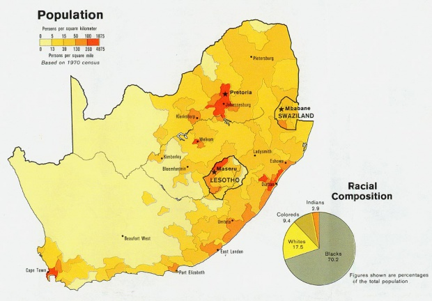 South Africa Population Map