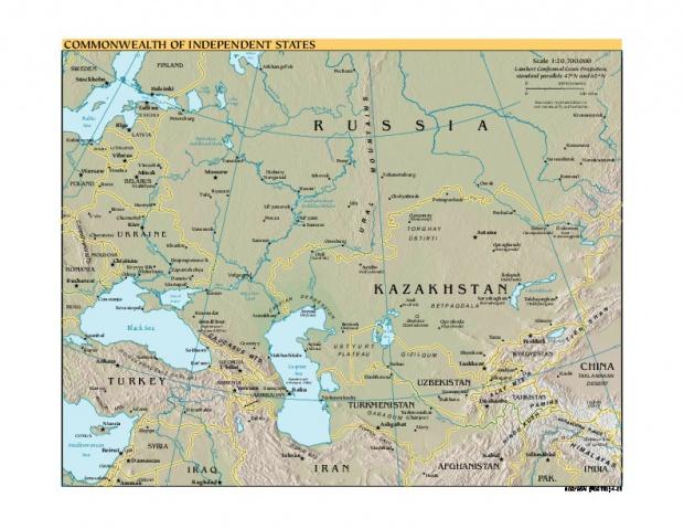 Mapa de Referencia de la Comunidad de Estados Independientes