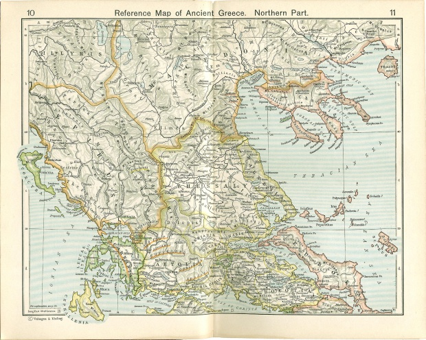 Reference Map of Ancient Greece, Northern Part