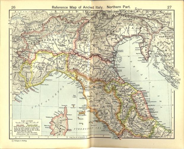 Mapa de Referencia del Norte de la Italia Antigua