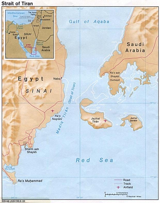 Mapa de Relieve Sombreado del Estrechos de Tirán