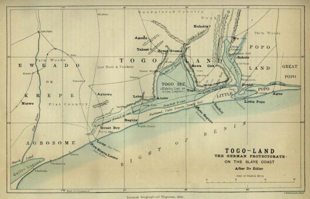 Mapa de Togolandia 1885