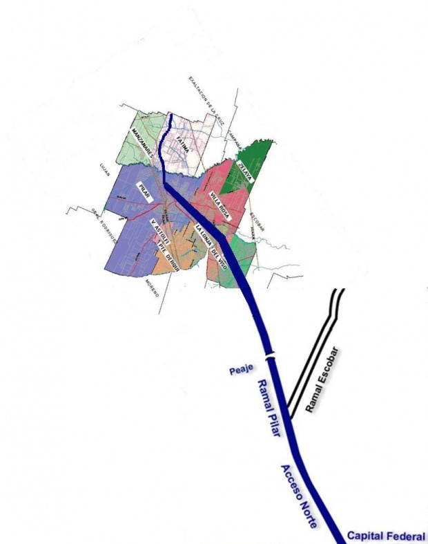 Mapa de Ubicación de Pilar, Prov. Buenos Aires, Argentina