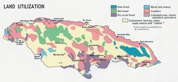 Jamaica Land Utilization Map