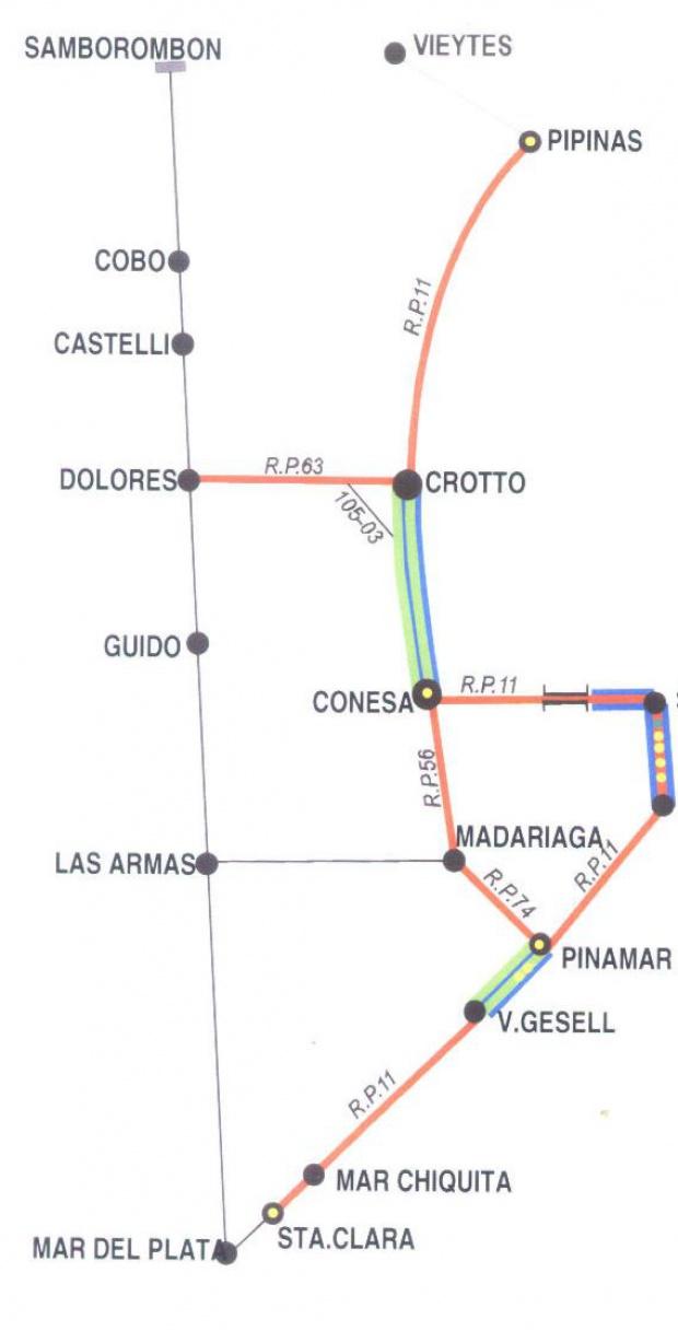 Mapa de Villa Gesell, Prov. Buenos Aires, Argentina
