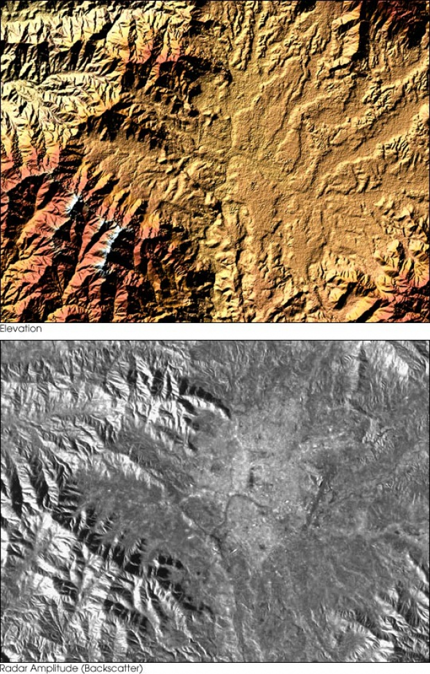 Elevation Map of Kathmandu, Nepal
