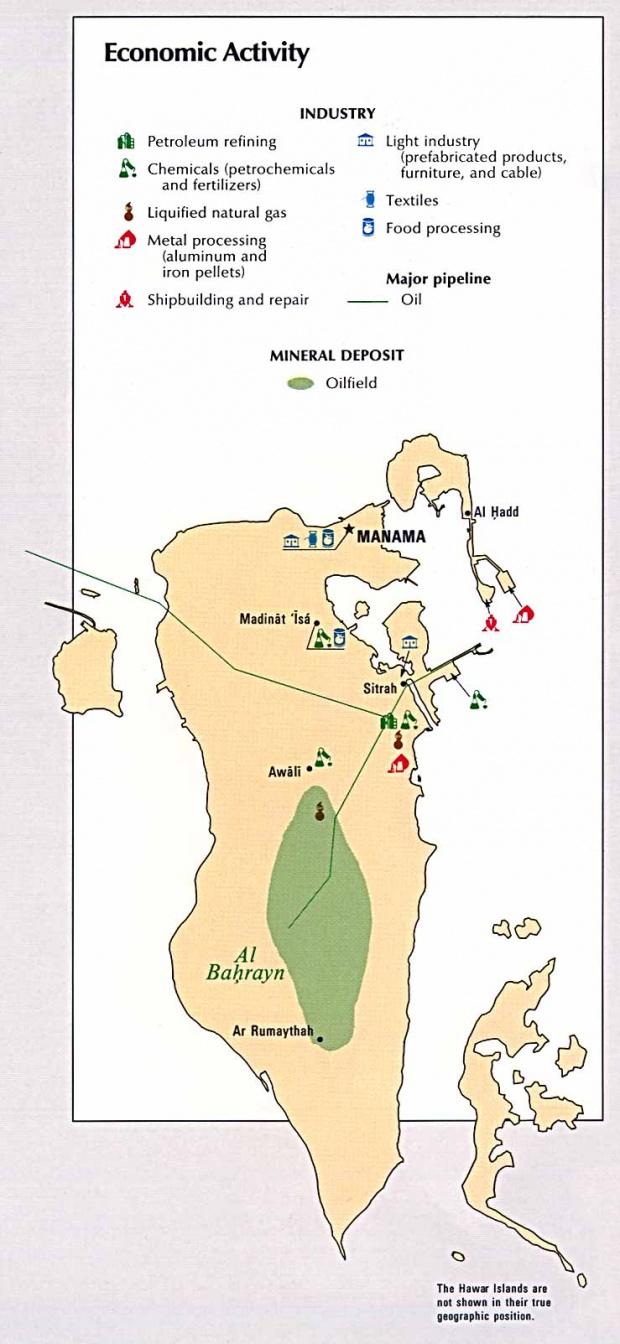Mapa de la Actividad Económica de Bahréin