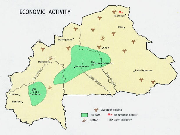 Burkina Faso Economic Activity Map