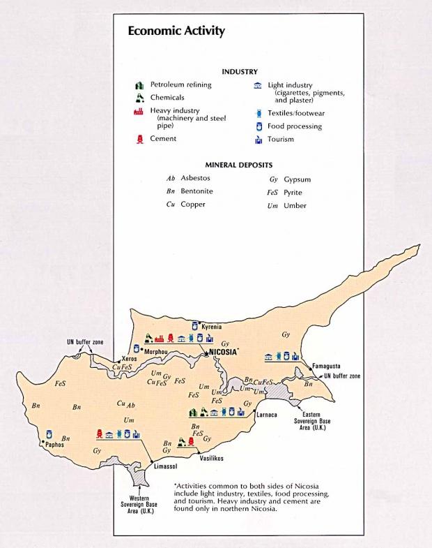Mapa de la Actividad Económica de Chipre