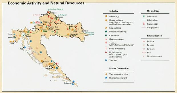 Croatia Economic Activity Map