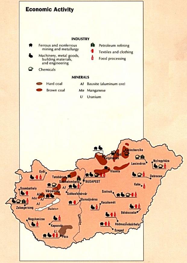 Hungary Economic Activity Map
