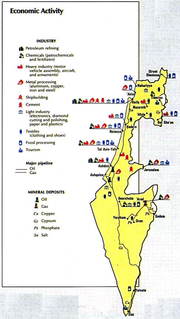 Israel Economic Activity Map