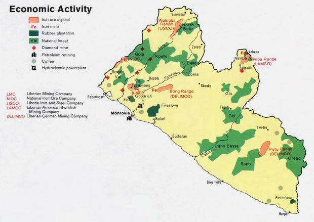 Worksheet. Mapas tematicos de Liberia