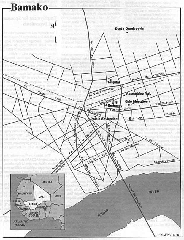 Mapa de la Ciudad de Bamako, Malí