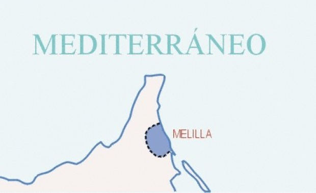 Map of Melilla Provincia, Spain