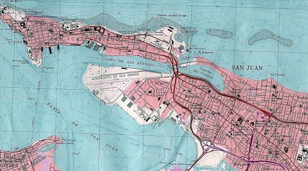 Mapa de la Ciudad de San Juan, Puerto Rico