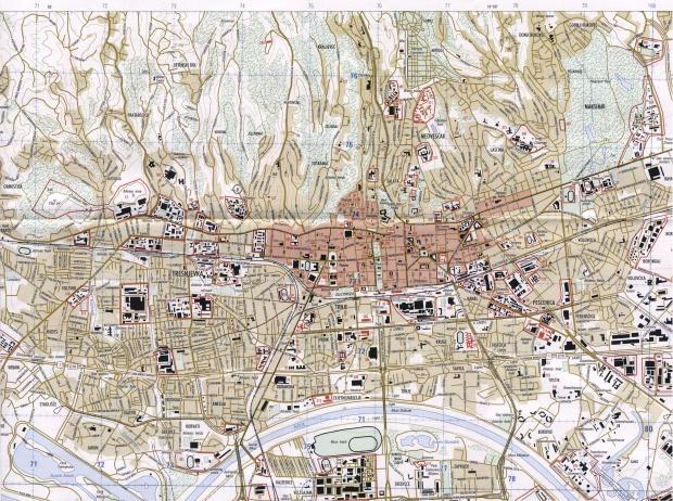 Mapa de la Ciudad de Zagreb, Croacia