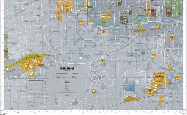 Mapa de la Ciudad del Sur de Pekín, China