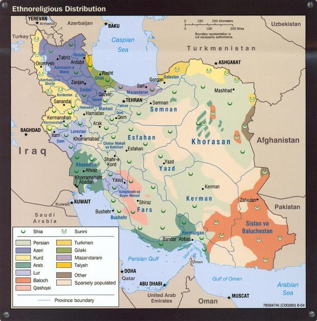 Iran Ethnoreligious Distribution Map