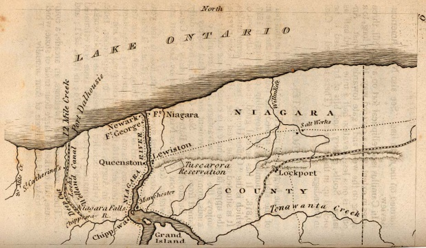 Map of the Niagara Frontier, New York, United States 1830