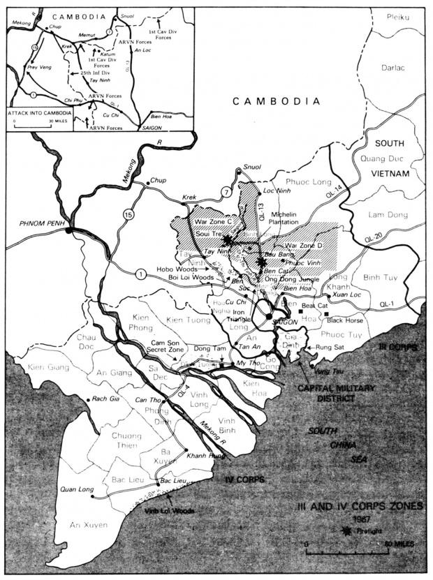 Mapa de la Guerra en Camboya